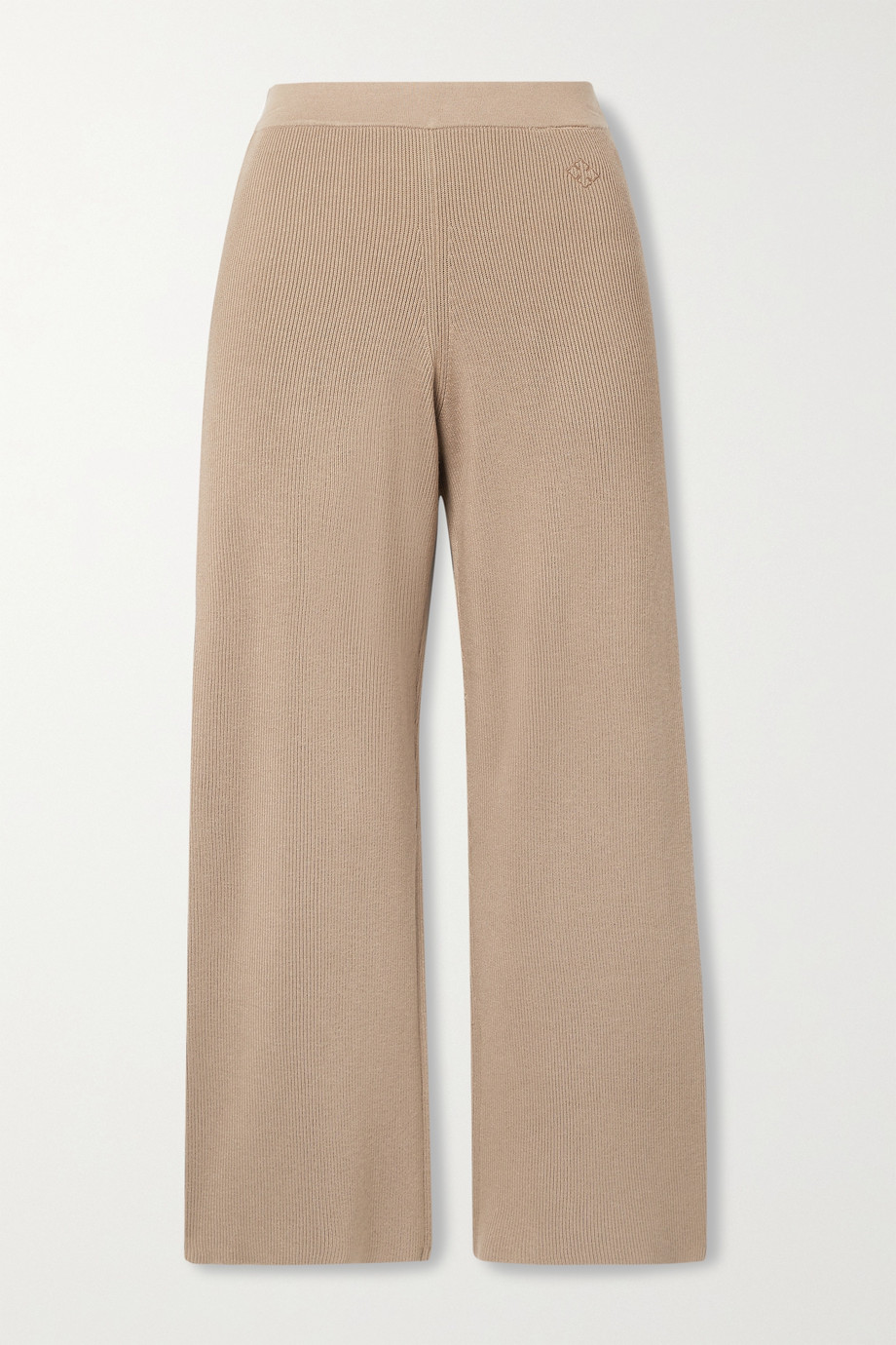 BY MALENE BIRGER Belis cropped ribbed-knit straight-leg pants