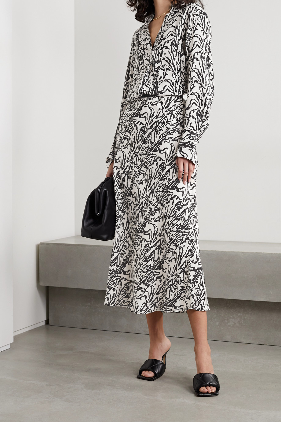 BY MALENE BIRGER Biellas printed twill midi skirt