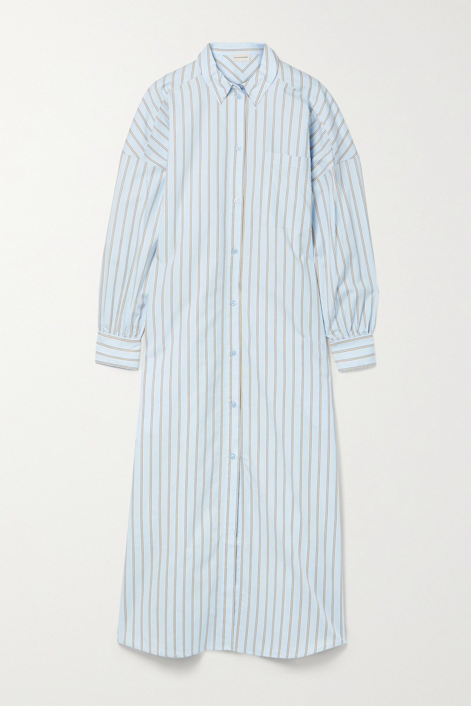 BY MALENE BIRGER Eina oversized striped organic cotton-poplin maxi dress
