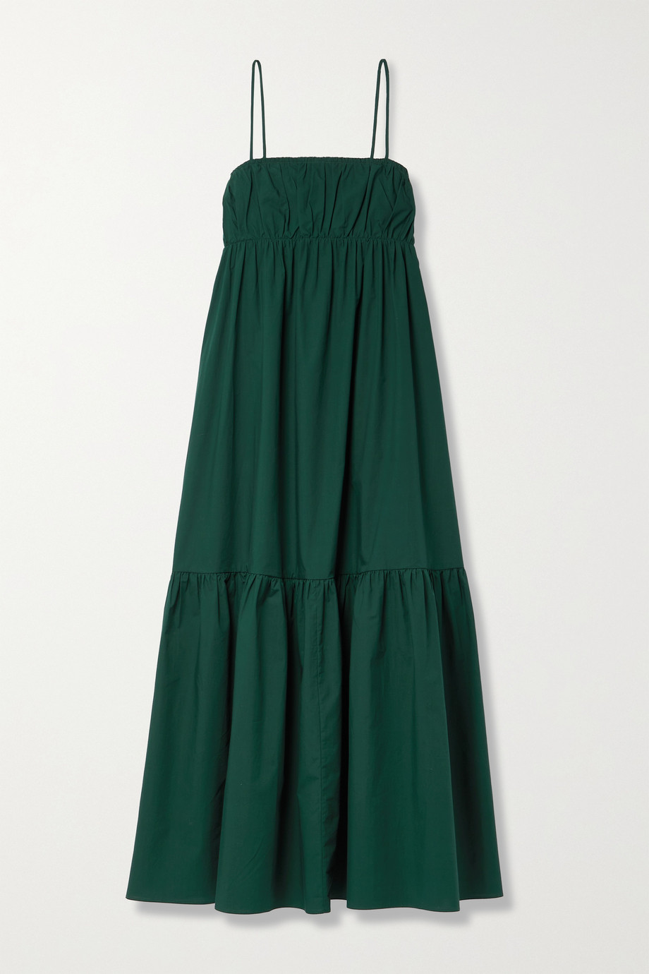 BY MALENE BIRGER Disemma gathered tiered cotton-poplin maxi dress