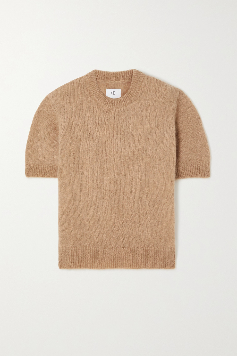 ANINE BING Corey brushed mohair-blend sweater