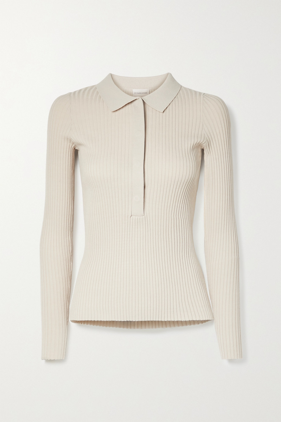 BY MALENE BIRGER Flalia ribbed-knit polo shirt