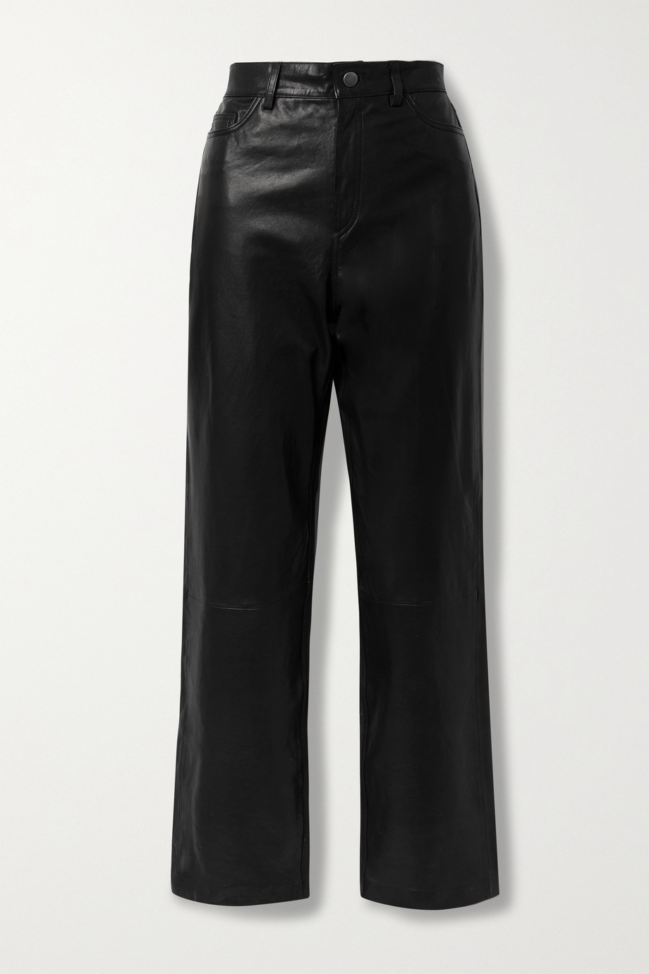 ENVELOPE1976 City leather straight-leg pants