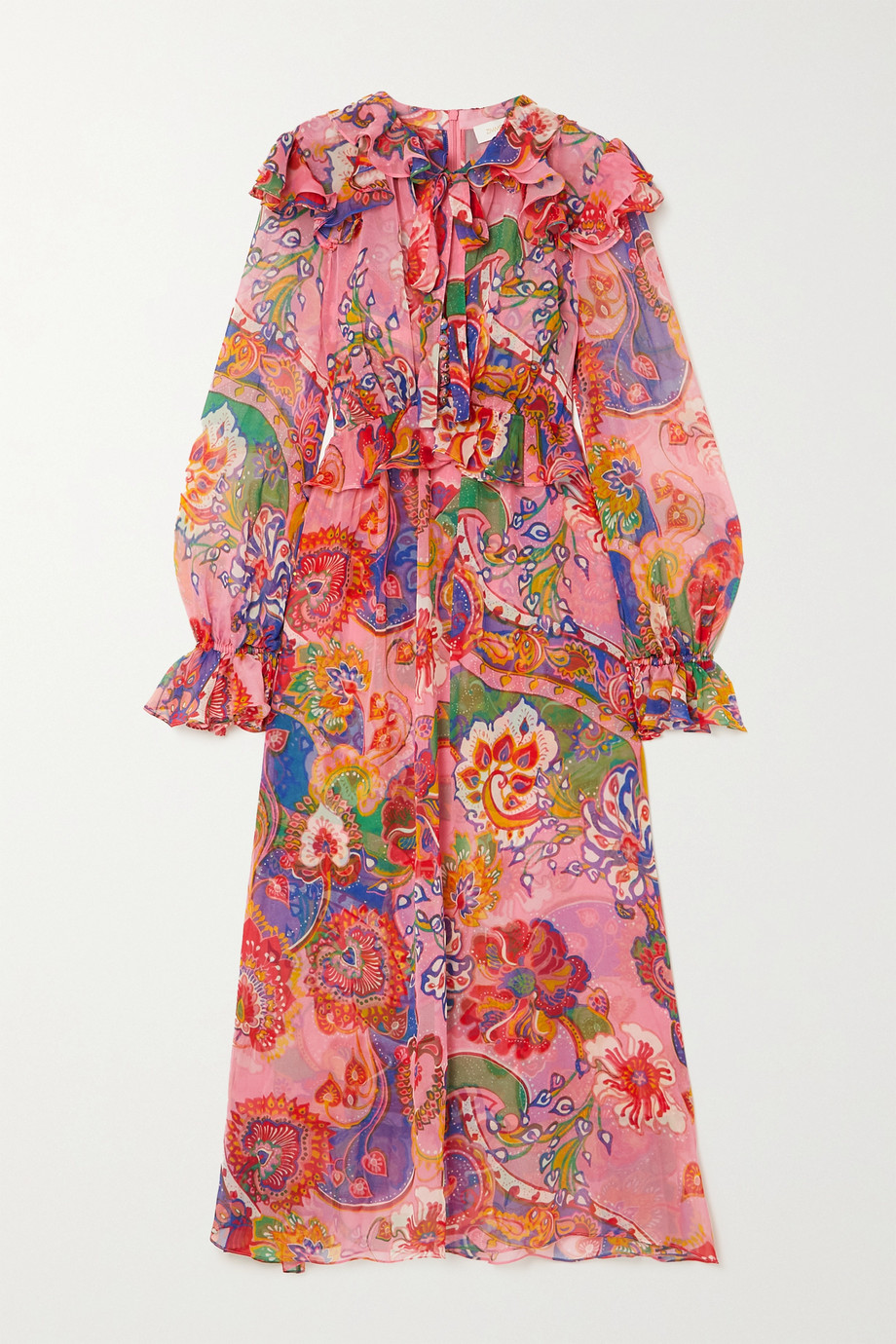 ZIMMERMANN The Lovestruck ruffled paisley-print silk-chiffon midi dress