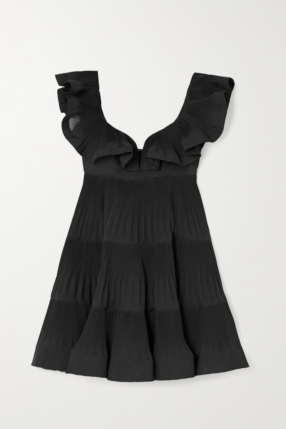 ZIMMERMANN The Lovestruck ruffled plissé-crepe mini dress