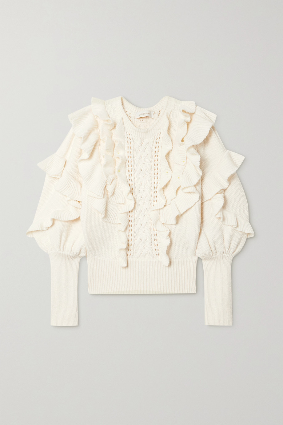 ZIMMERMANN Botanica ruffled wool sweater