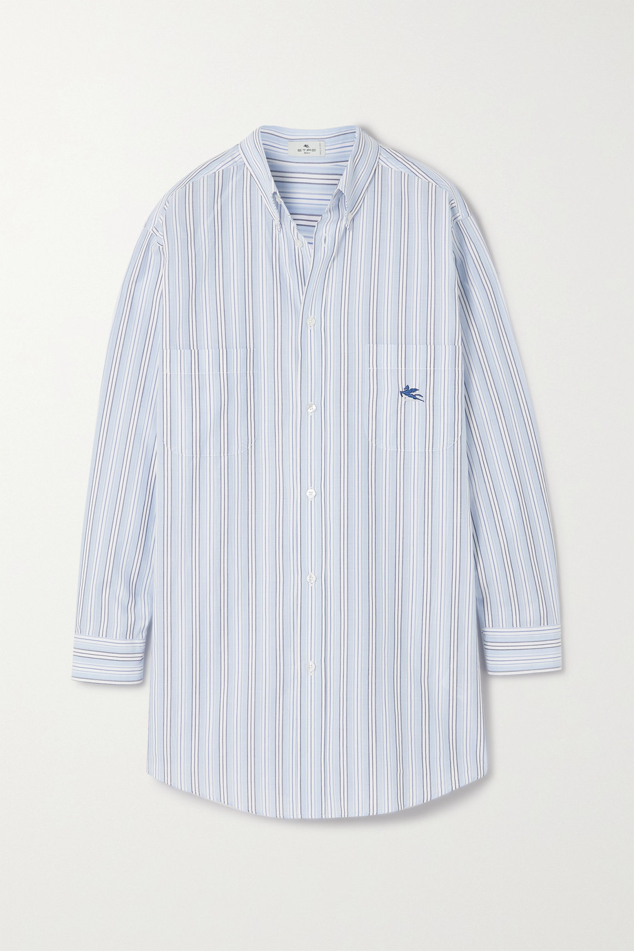 ETRO Oversized pinstriped cotton-poplin shirt