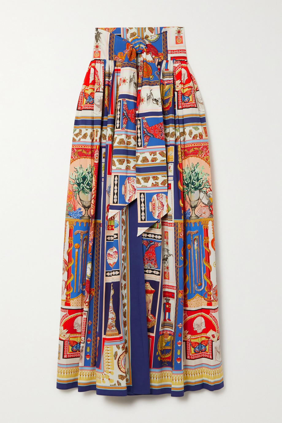 ETRO Printed cotton-blend maxi skirt