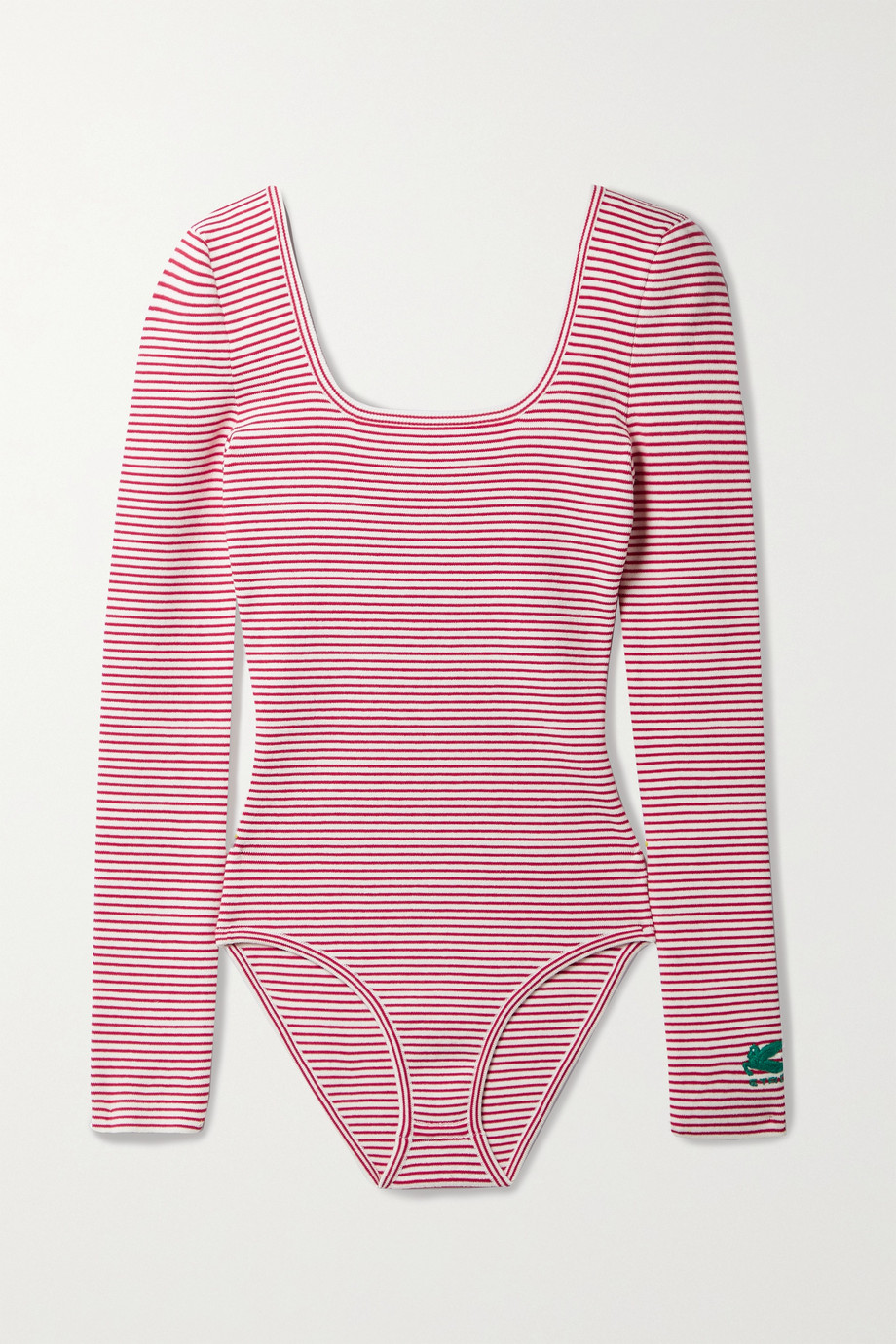 ETRO Striped cotton-blend bodysuit