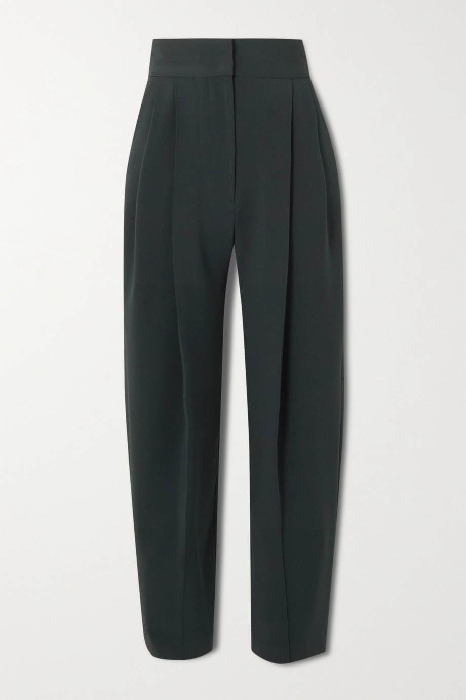 LOW CLASSIC Pintucked crepe wide-leg pants