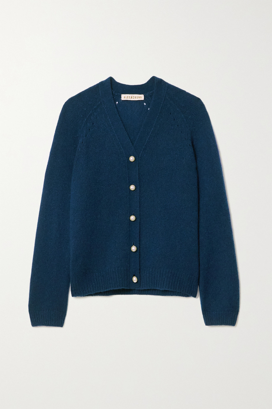 ALEXACHUNG Karlin cashmere and silk-blend cardigan