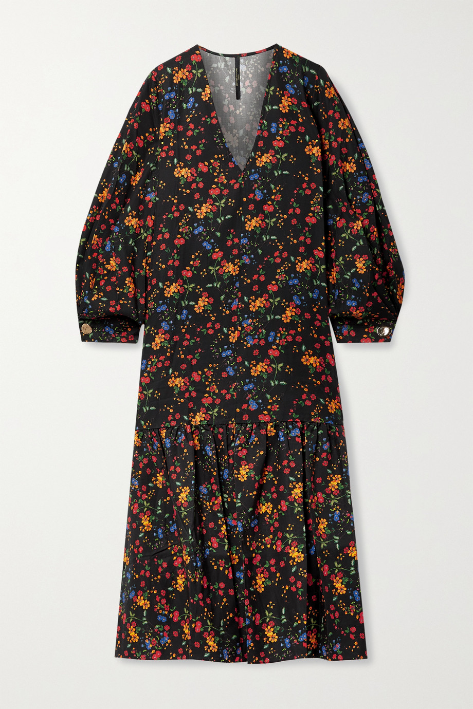 MOTHER OF PEARL + NET SUSTAIN Danica floral-print TENCEL Lyocell-twill midi dress