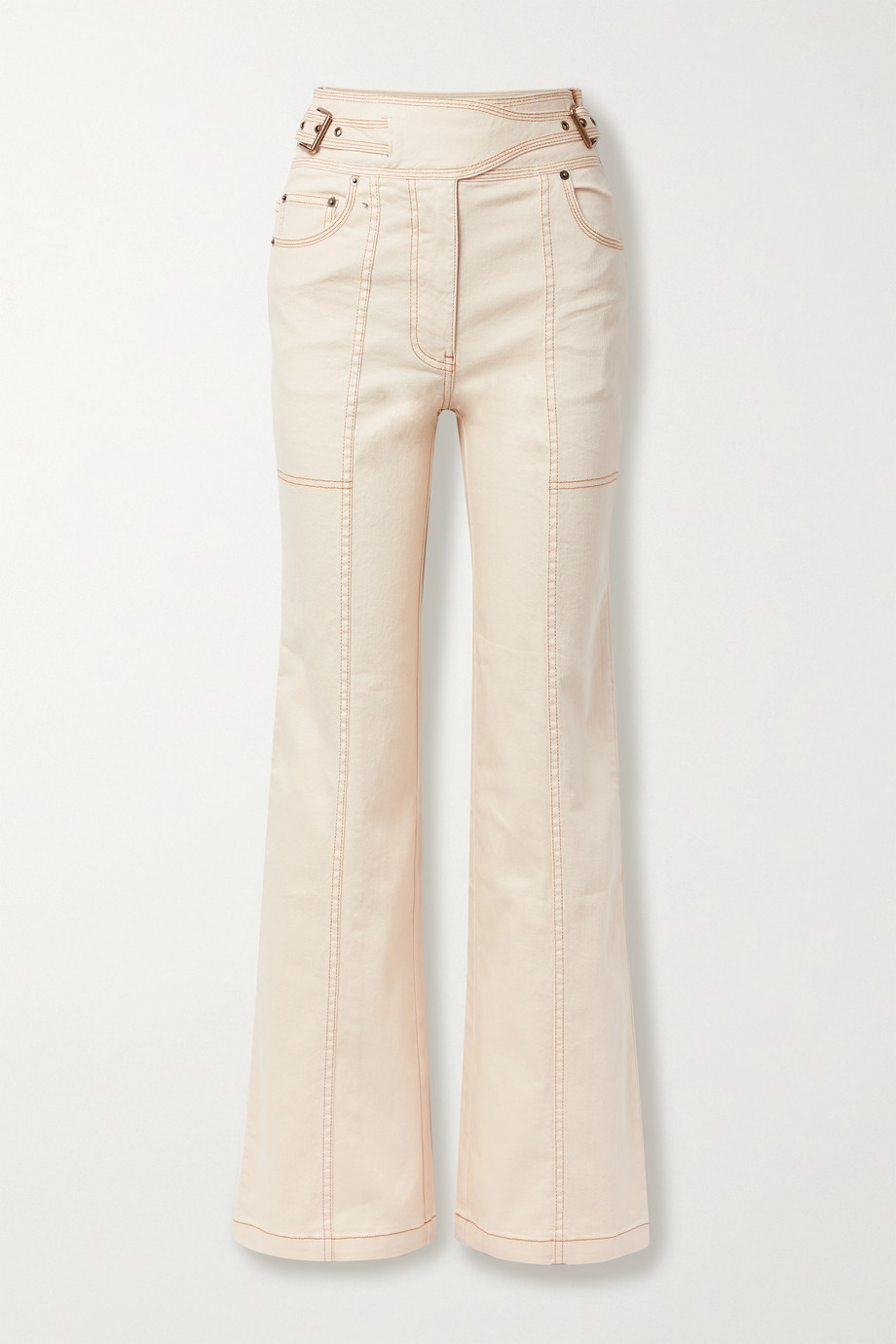 ULLA JOHNSON Albie belted high-rise wide-leg denim jeans