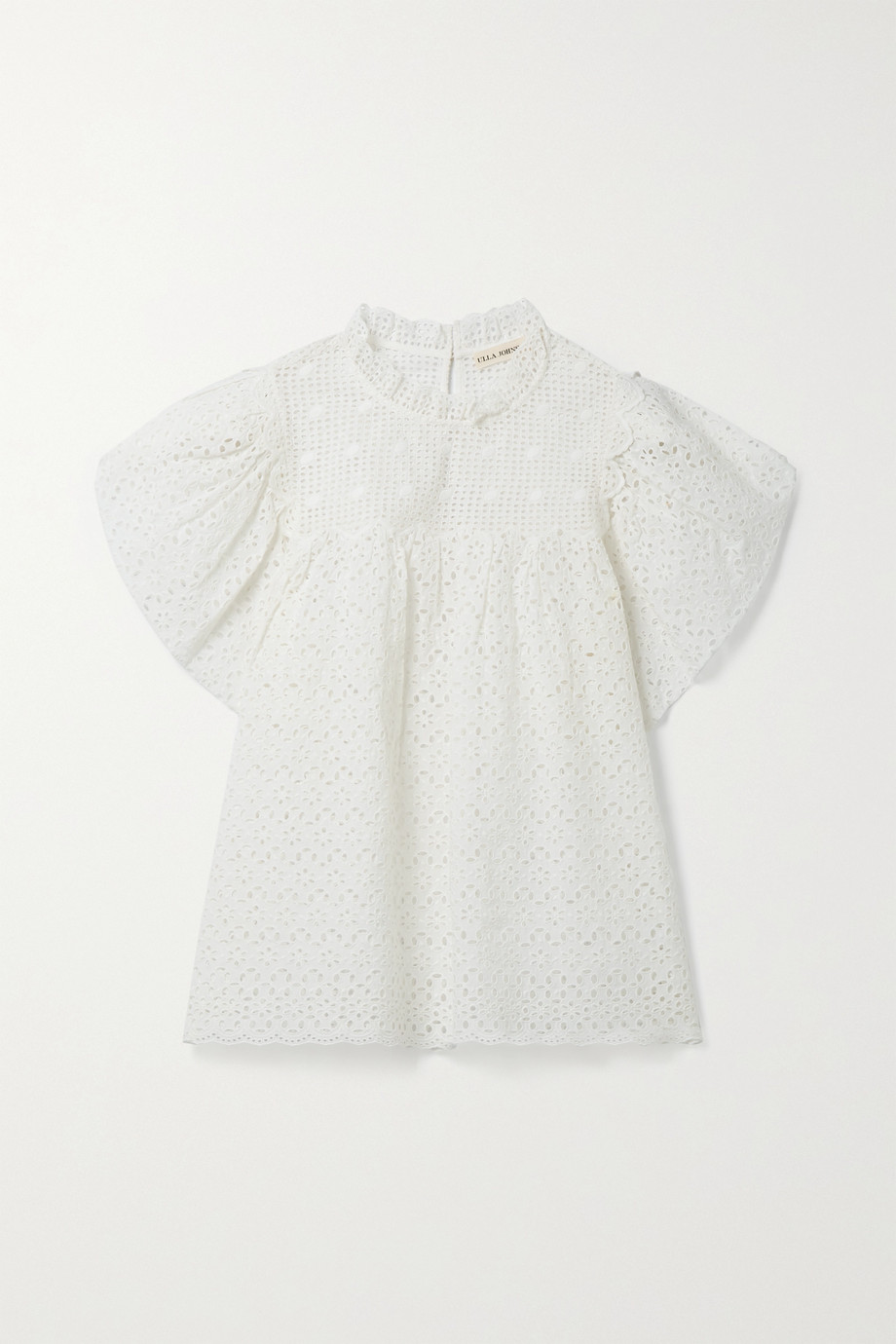 ULLA JOHNSON Mae gathered broderie anglaise cotton top
