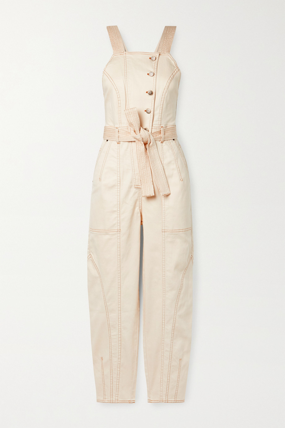 ULLA JOHNSON Archer belted denim jumpsuit