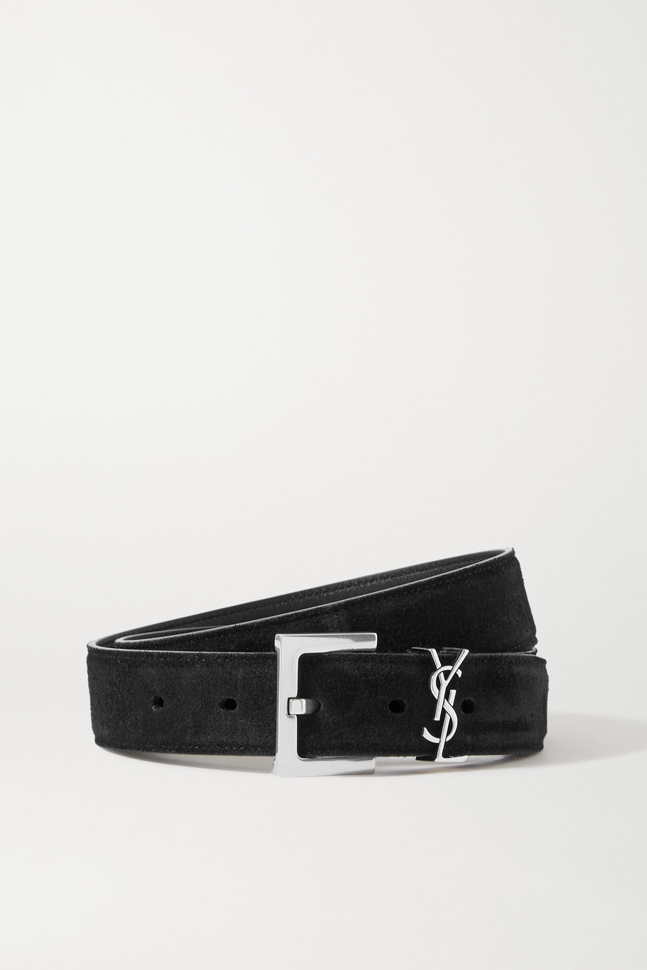 SAINT LAURENT Monogramme suede waist belt