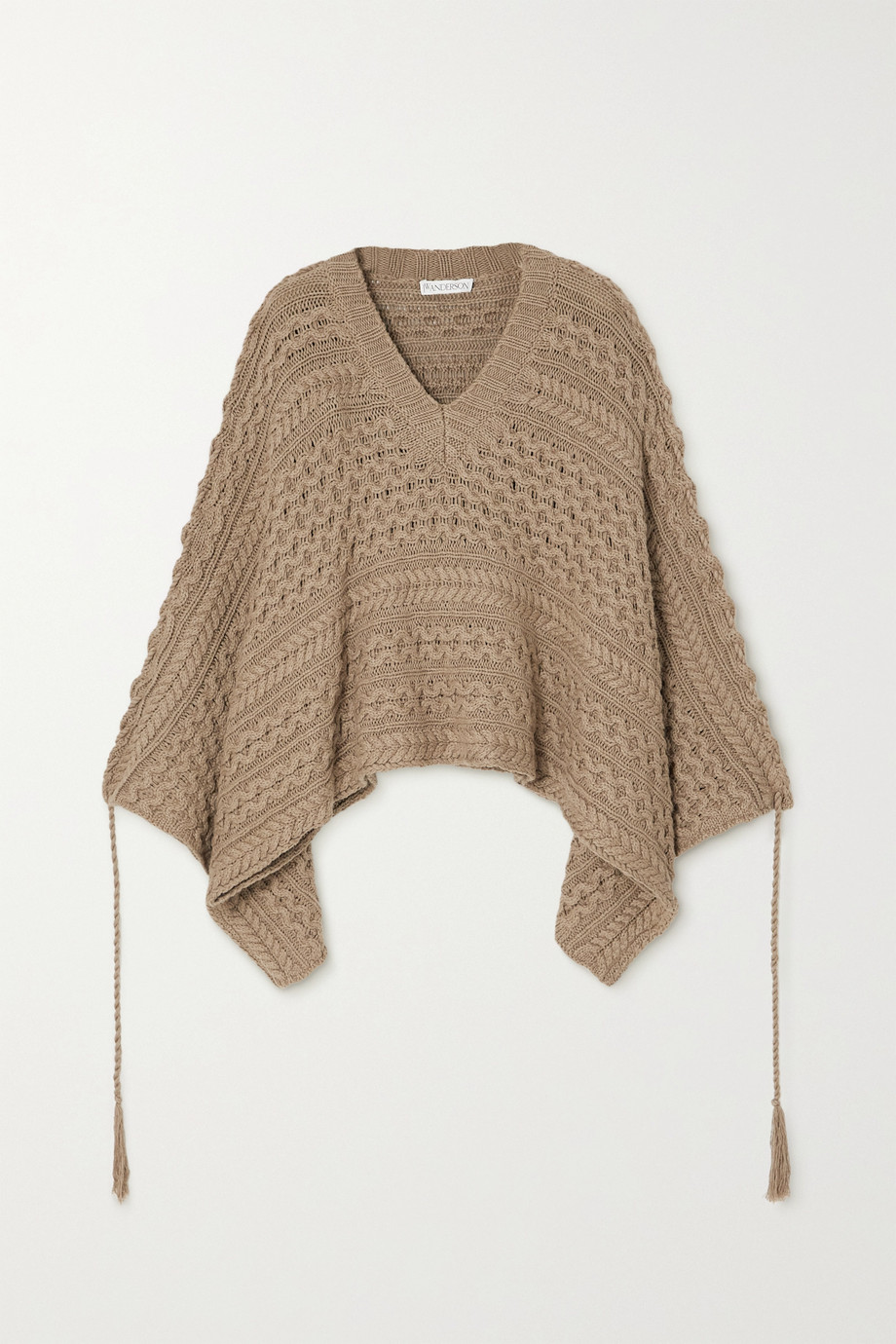 JW ANDERSON Cable-knit cotton and hemp-blend sweater