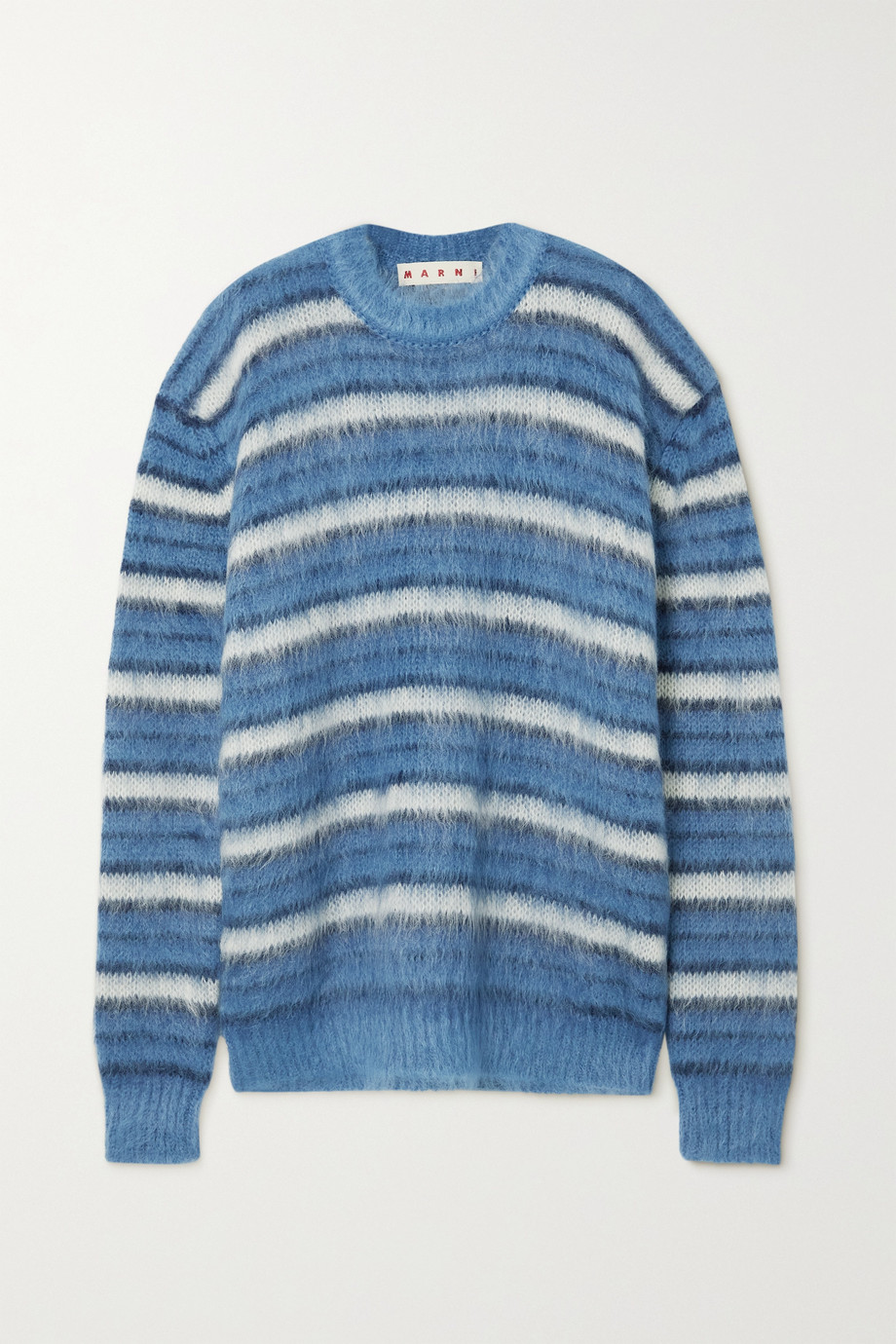 MARNI Striped brushed mohair-blend sweater