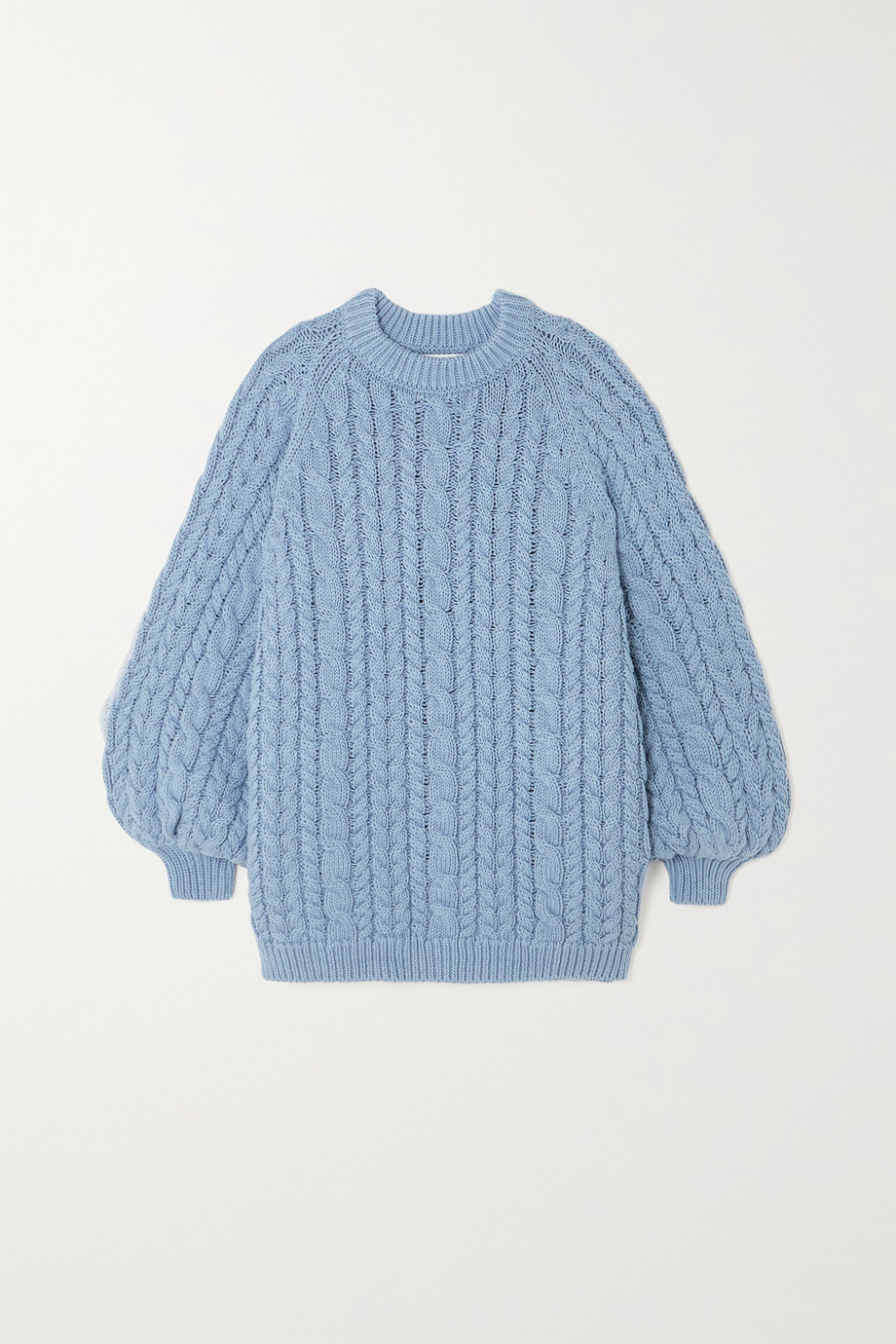 MR MITTENS Oversized cable-knit cotton sweater