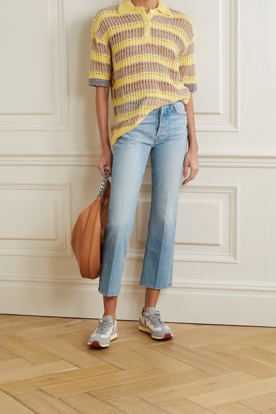 MOTHER The Tripper cropped high-rise flared jeans