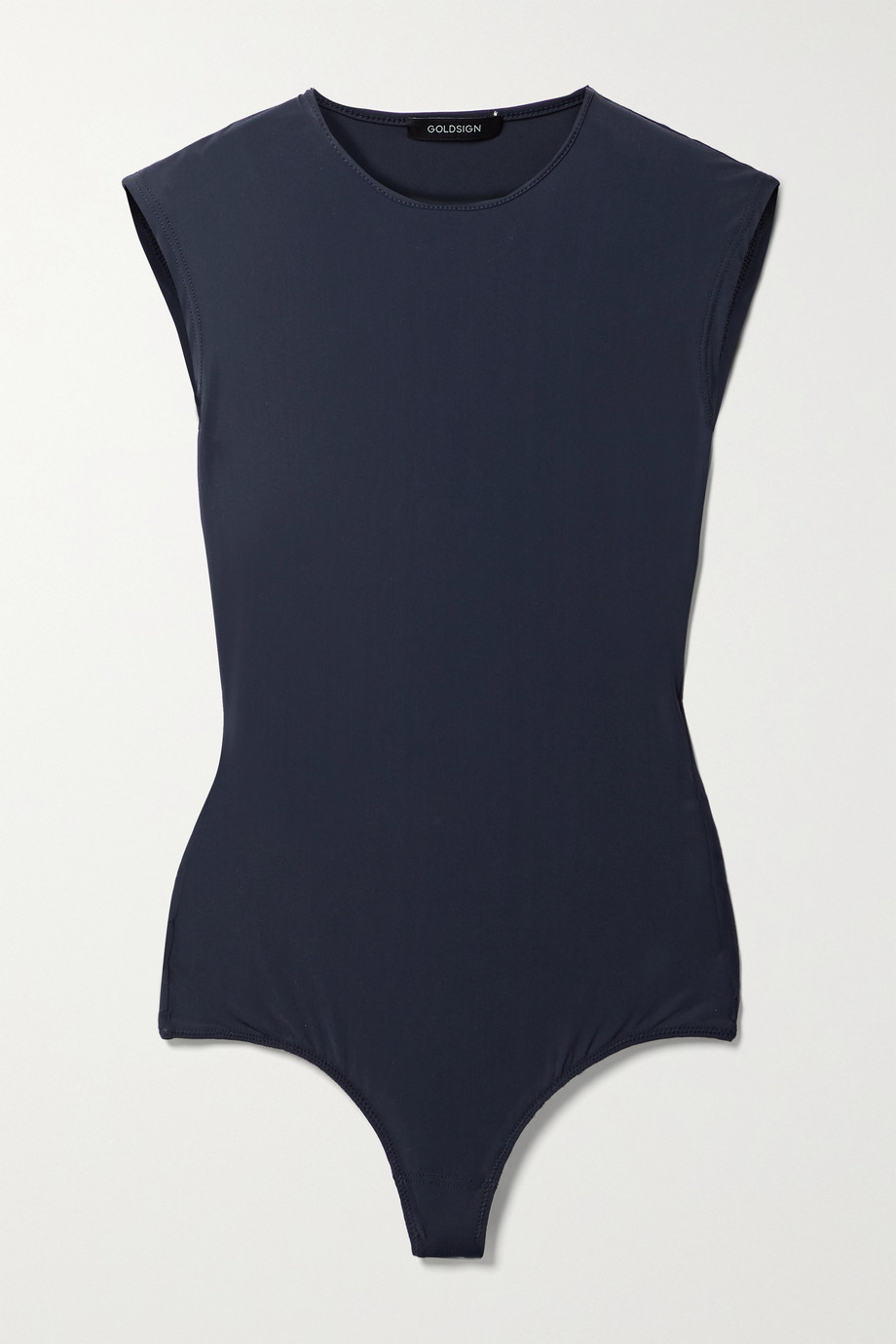 GOLDSIGN + NET SUSTAIN The Crew Neck stretch-jersey thong bodysuit