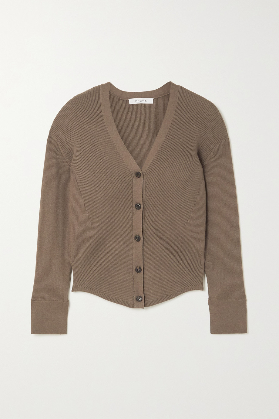 FRAME Phoebe ribbed-knit cardigan