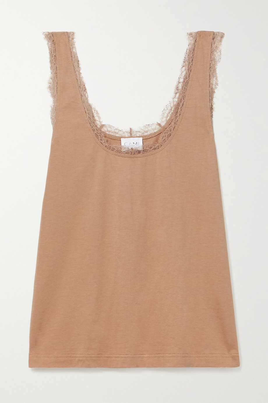 CAMI NYC Britney lace-trimmed cotton and modal-blend jersey tank