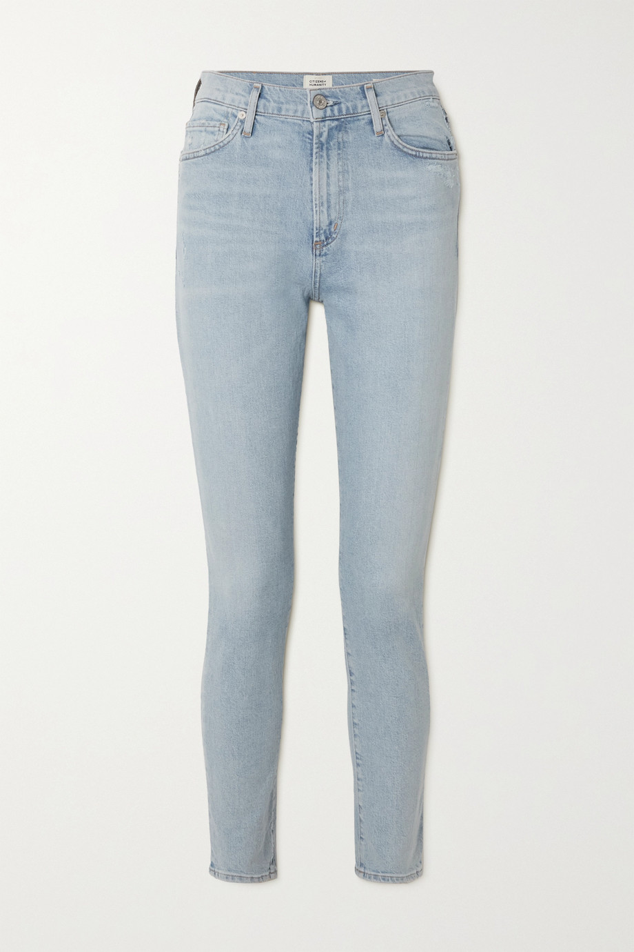 CITIZENS OF HUMANITY + NET SUSTAIN Olivia organic high-rise slim-leg jeans