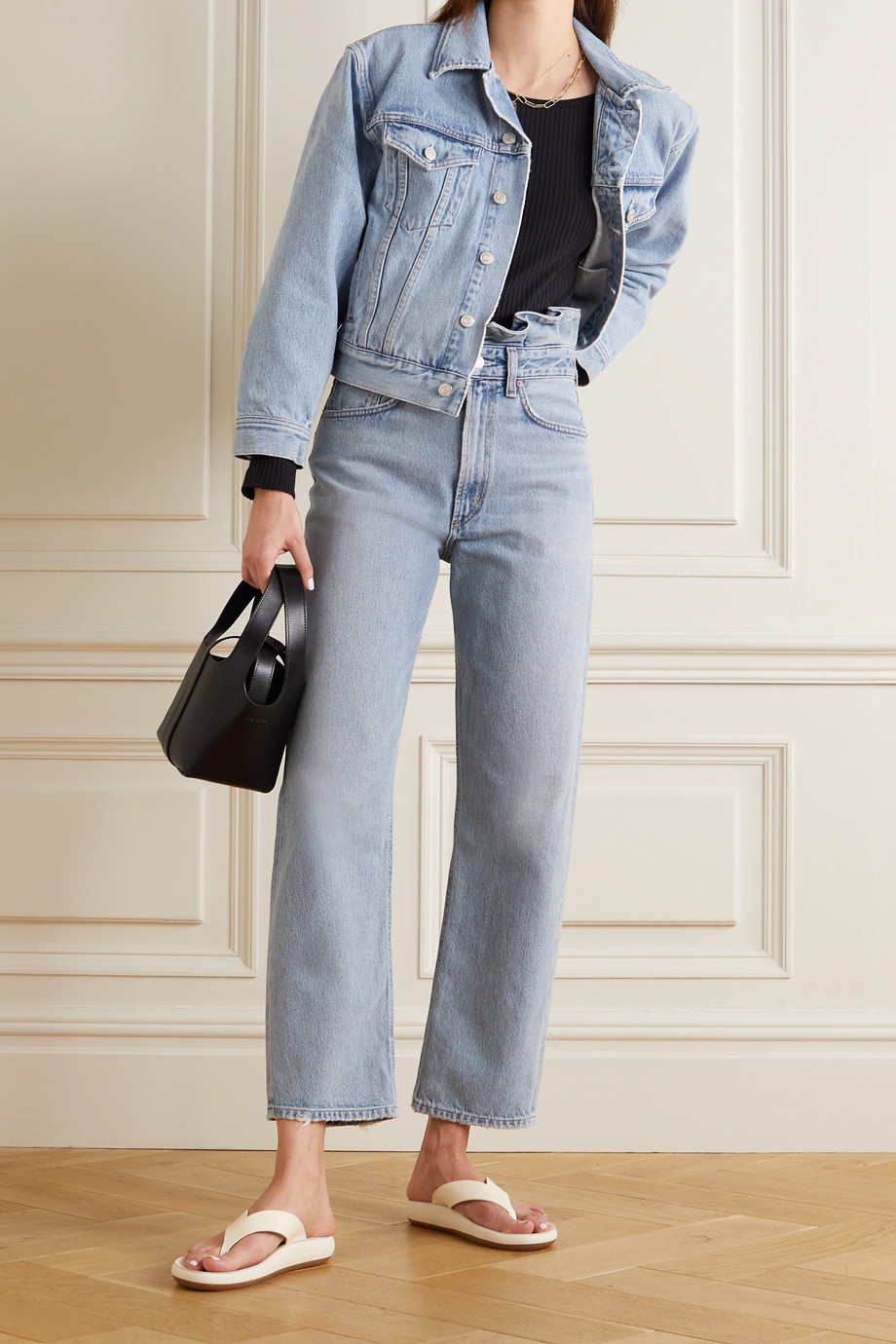 AGOLDE + NET SUSTAIN organic high-rise straight-leg jeans