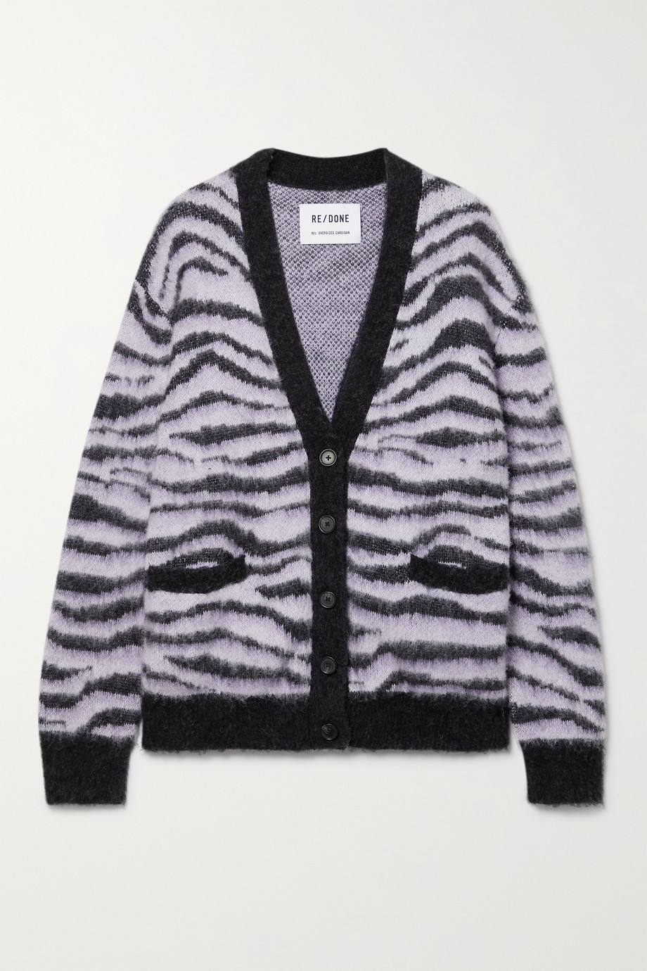 RE/DONE 90s tiger-intarsia cardigan