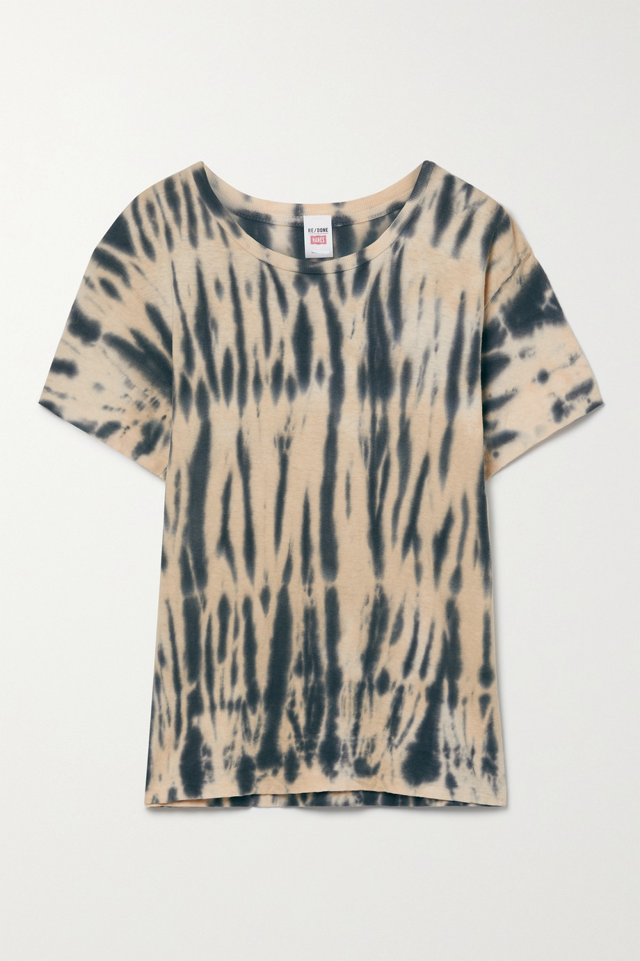 RE/DONE + NET SUSTAIN + Hanes 70s tie-dyed recycled cotton-jersey T-shirt