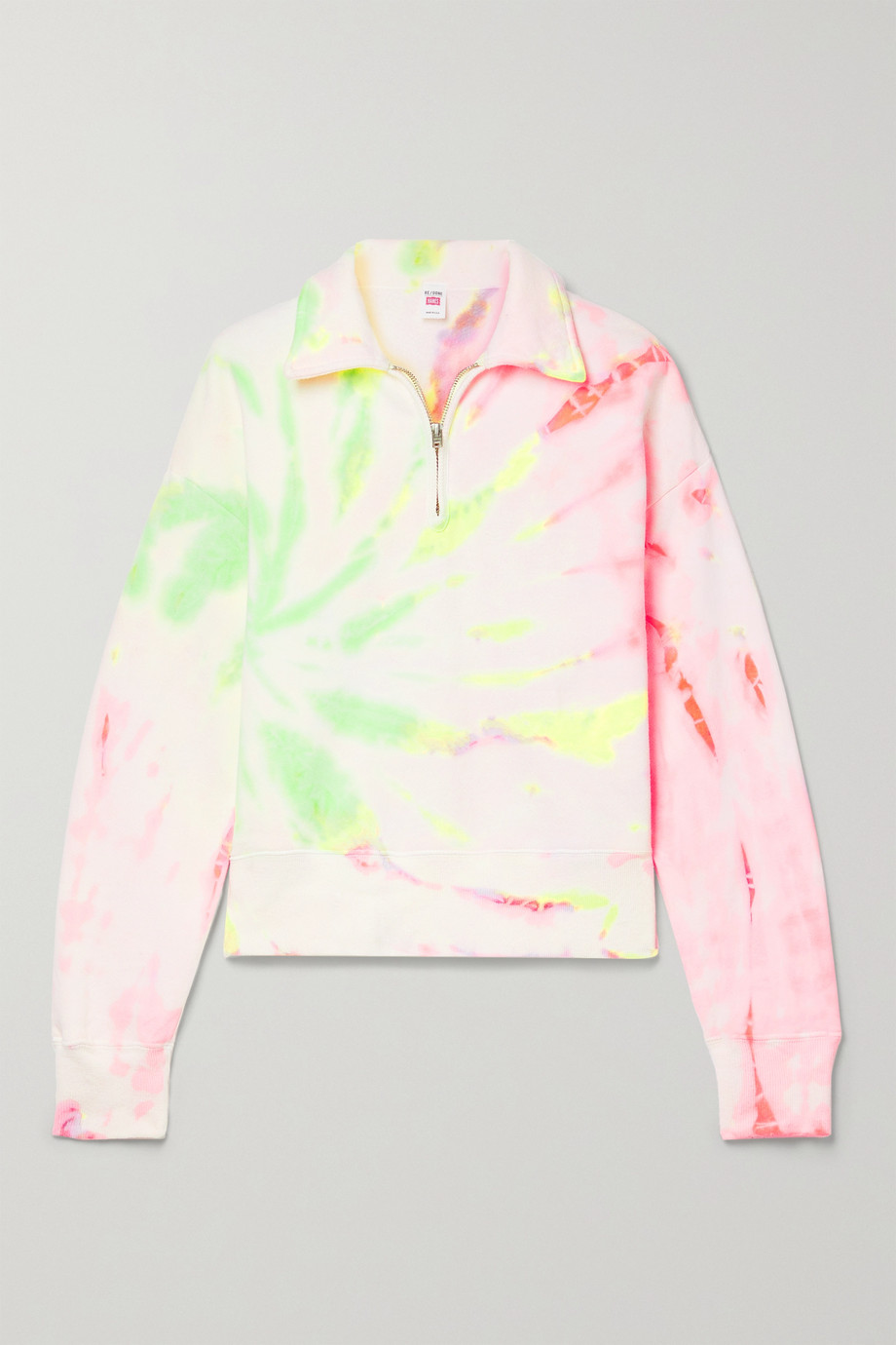 RE/DONE + Hanes 70s tie-dyed cotton-jersey sweatshirt