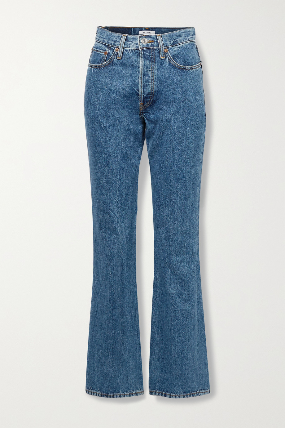 RE/DONE + NET SUSTAIN 70s high-rise bootcut jeans