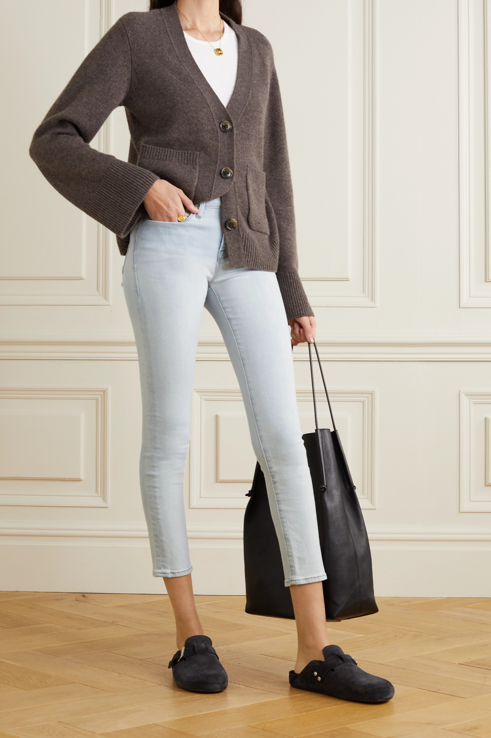 FRAME Le Skinny de Jeanne cropped mid-rise jeans