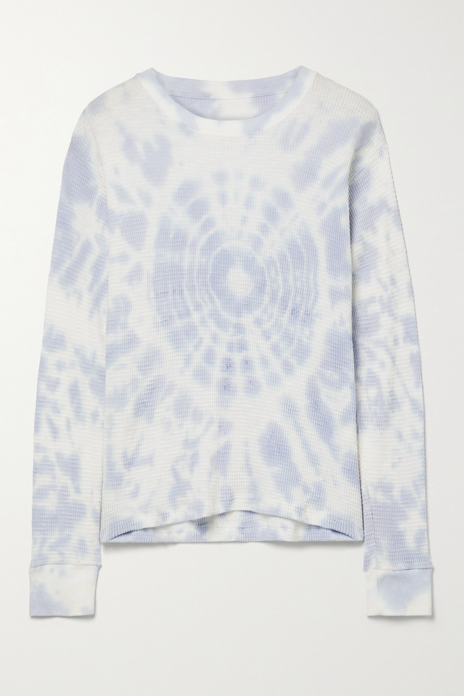 RE/DONE + Hanes tie-dyed waffle-knit cotton top