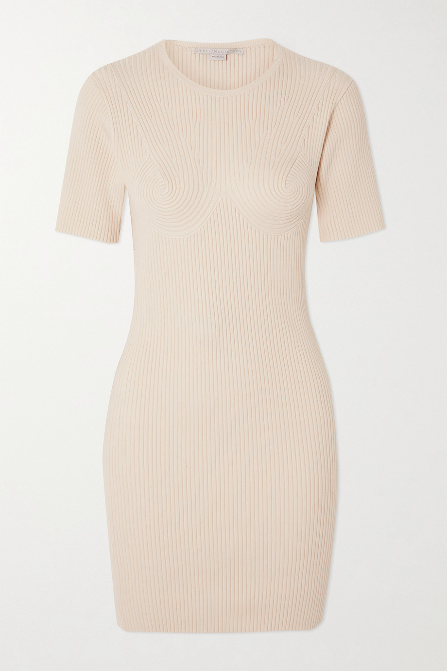 STELLA MCCARTNEY Ribbed cotton-blend mini dress