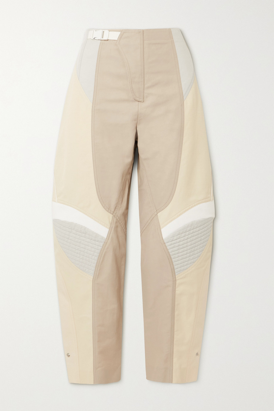 STELLA MCCARTNEY Brooke color-block paneled twill tapered pants