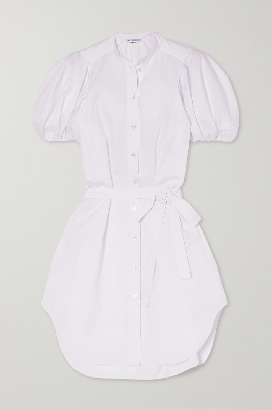 STELLA MCCARTNEY Anastasia belted organic cotton-poplin mini shirt dress