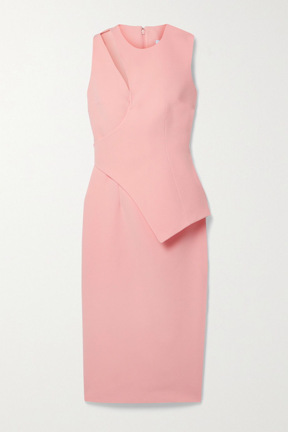 SAFIYAA Amanda layered cutout crepe midi dress