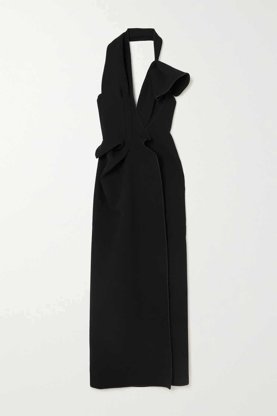 MATICEVSKI Victoria draped cady halterneck gown