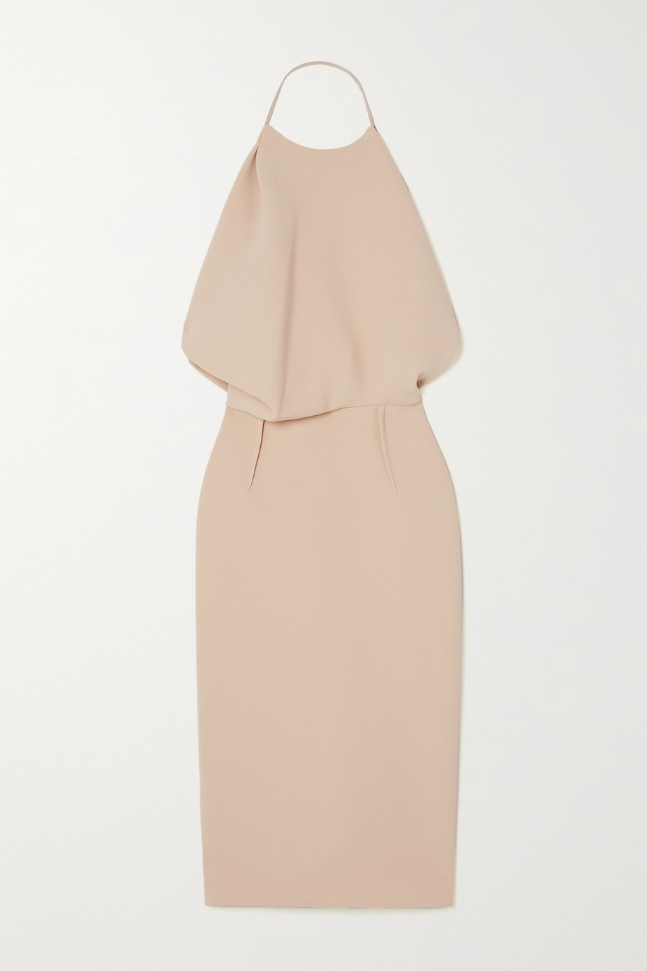 MATICEVSKI Signet draped cady halterneck midi dress