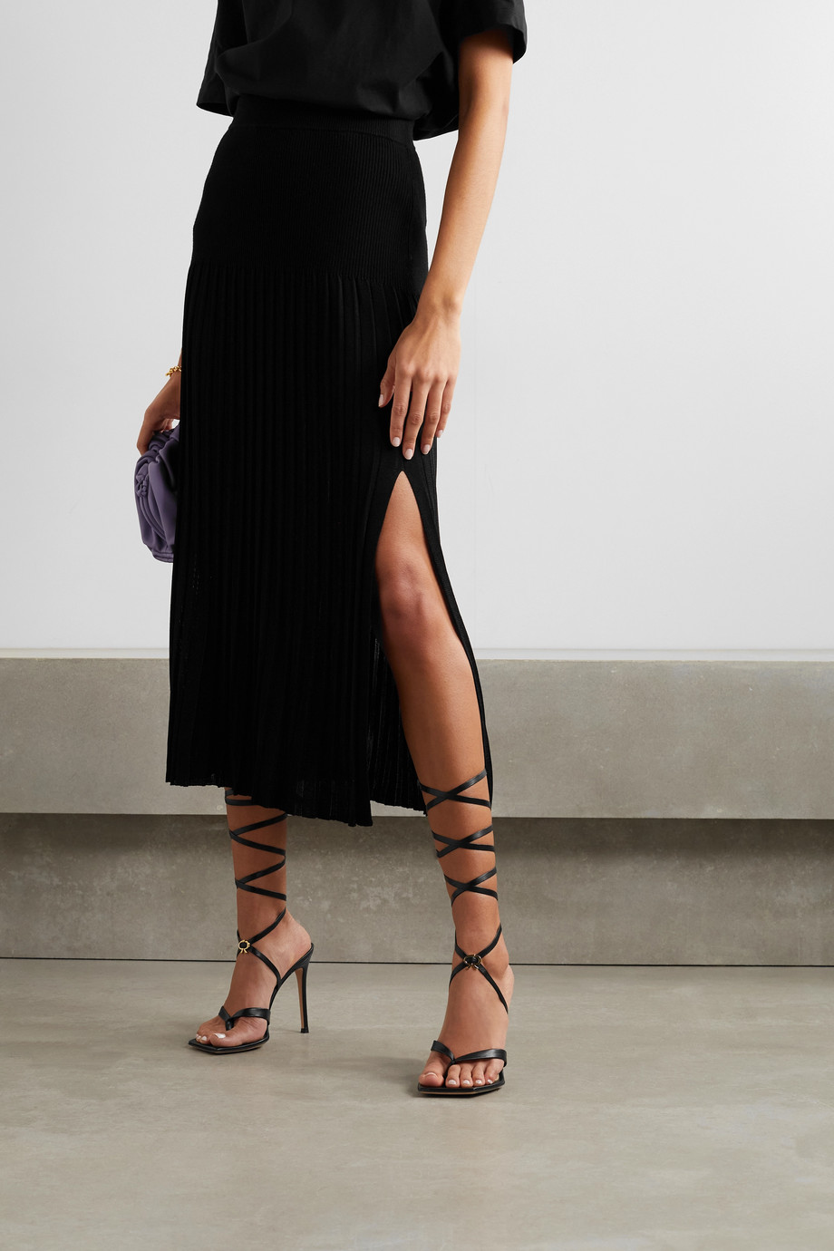 GIANVITO ROSSI Ribbon 105 lace-up leather sandals