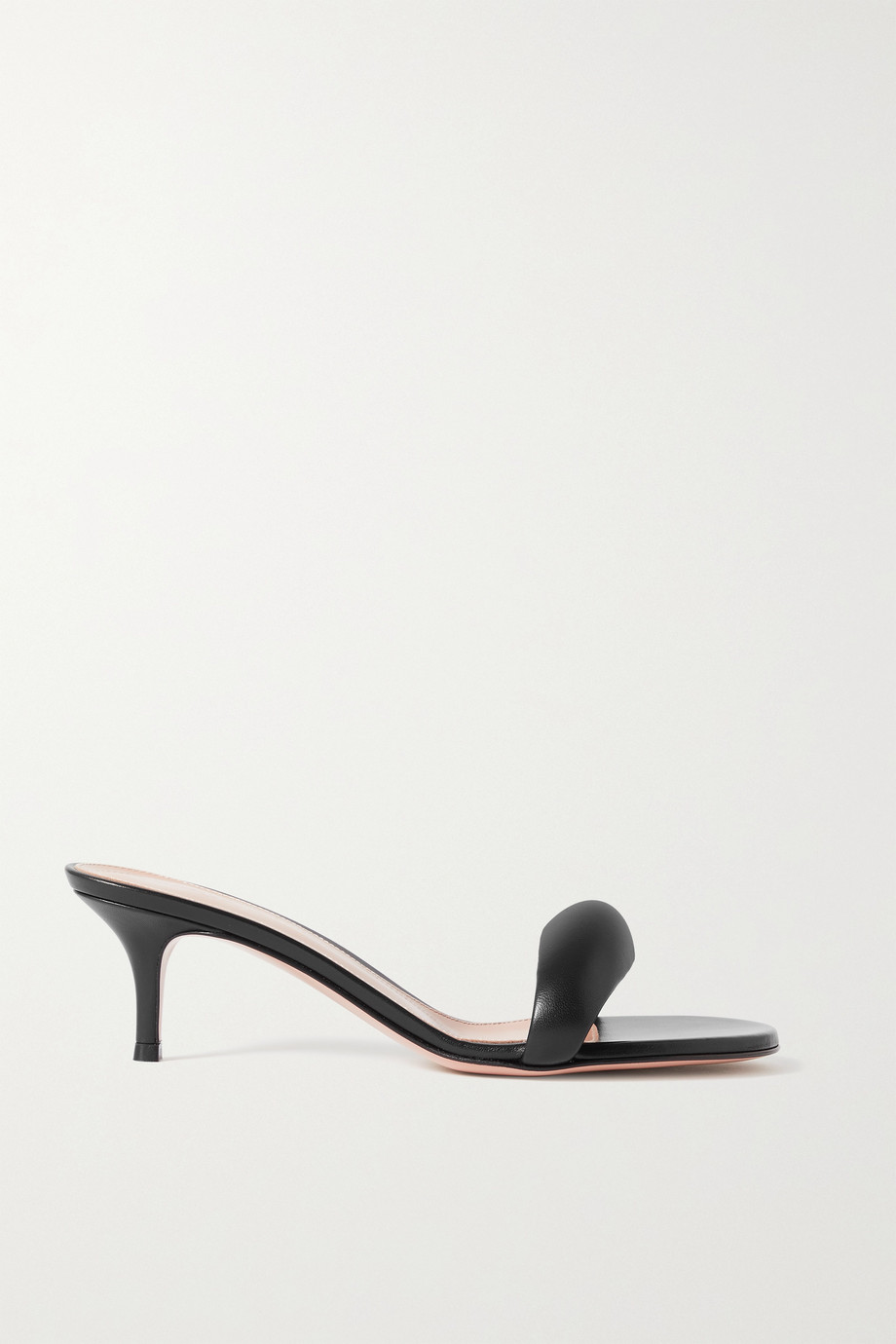 GIANVITO ROSSI 55 leather mules