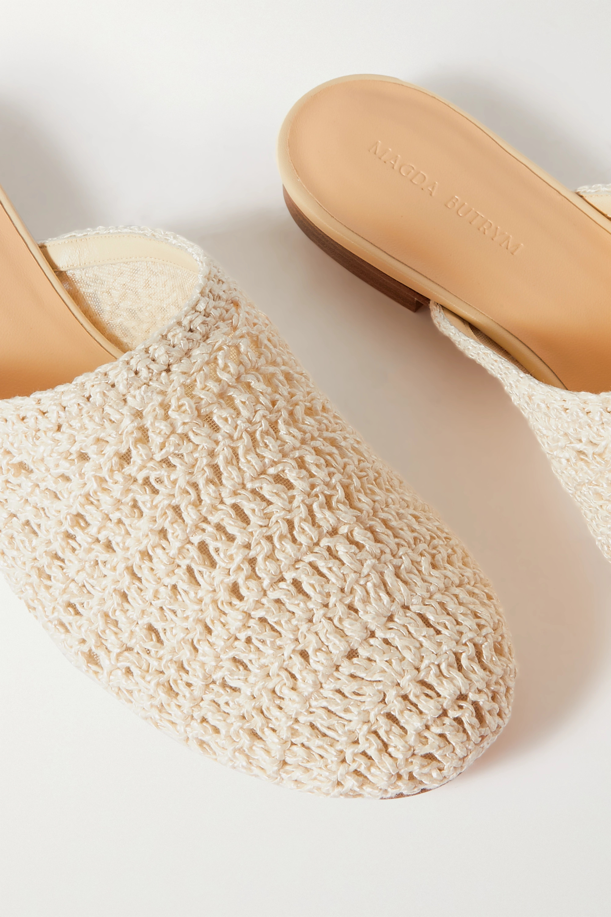 MAGDA BUTRYM Crocheted cotton mules