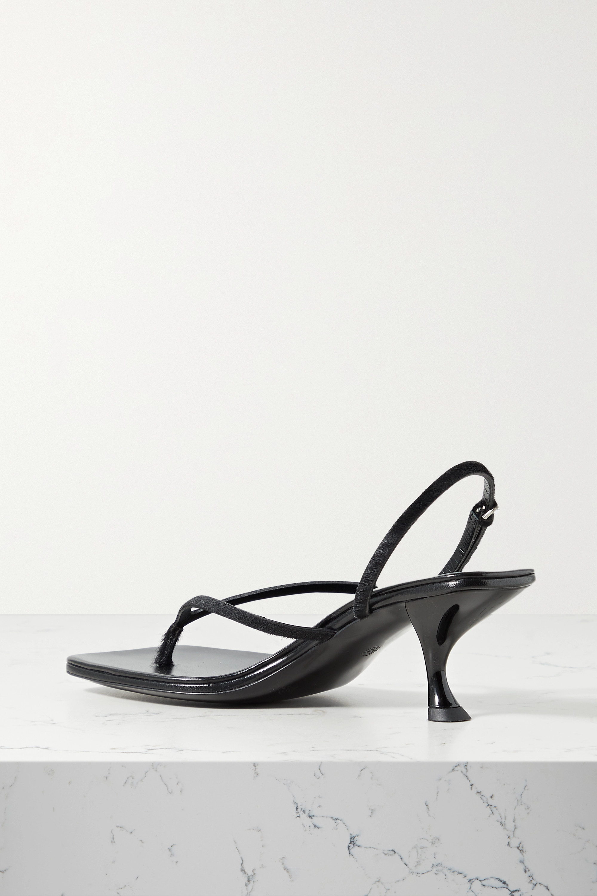 THE ROW Constance calf hair slingback sandals
