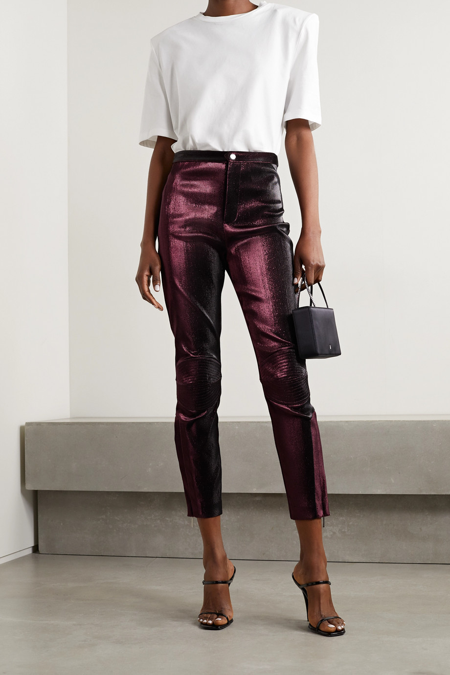 AREA Lurex skinny pants