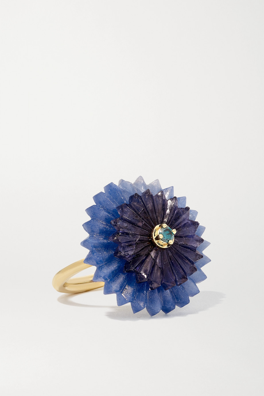 ALICE CICOLINI Summer Snow 9-karat gold, sapphire and iolite ring