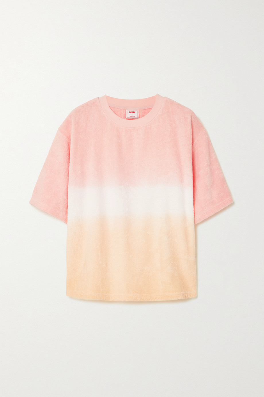 TERRY Terry Tie ombré cotton-terry T-shirt
