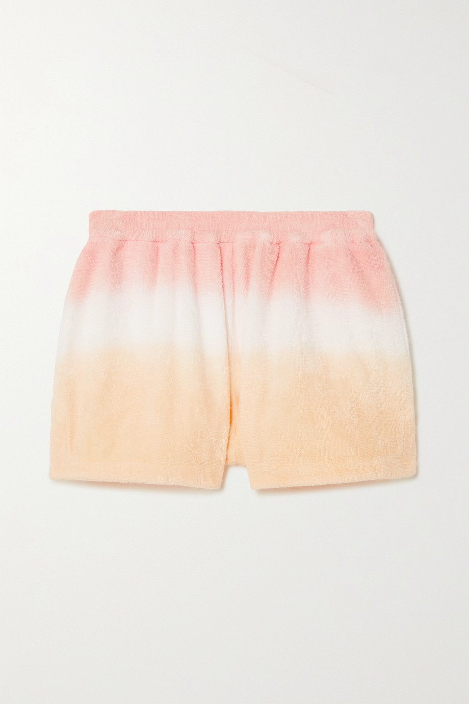 TERRY Estate ombré cotton-terry shorts