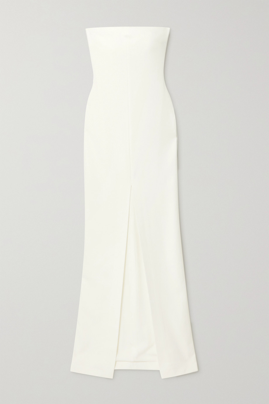 SOLACE LONDON Bysha strapless stretch-crepe gown